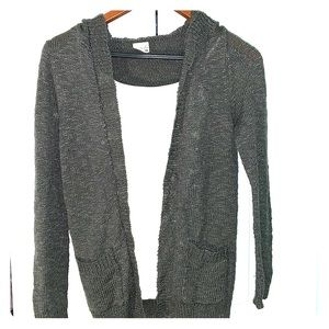 Hooded Charcoal cardigan